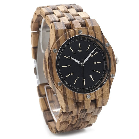 Men's Handcrafted 100% Natural Wooden Watch // Personalized Engravings // Hermes - Woodzystore