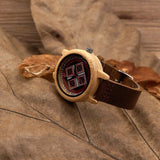 Women's Handcrafted 100% Natural Wooden Watch // Personalized Engravings // Leather Strap // Winter - Woodzystore
