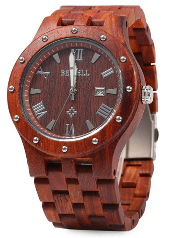 Men's Handcrafted 100% Natural Wooden Watch // Redwood // Sudan - Woodzystore