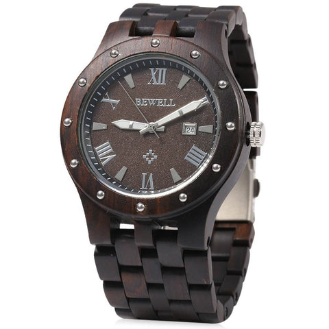 Men's Handcrafted 100% Natural Wooden Watch // Gaben - Woodzystore
