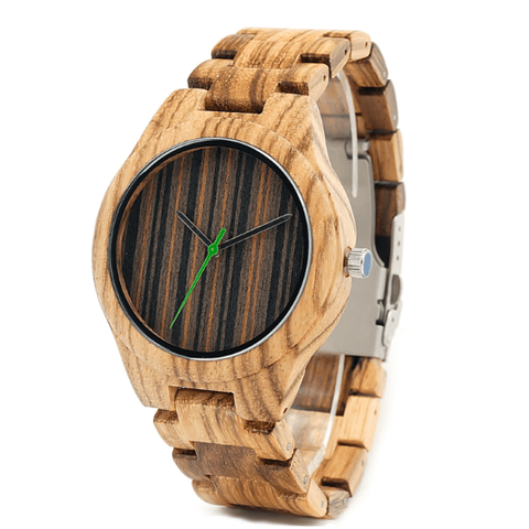 Men's Handcrafted 100% Natural Wooden Watch // Personalized Engravings // Garel - Woodzystore