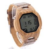 Men's Handcrafted 100% Natural Wooden Watch // Personalized Engravings // Leather Strap // Vegas - Woodzystore