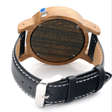 Men's Handcrafted 100% Natural Wooden Watch // Personalized Engravings // Bamboo Wood // Leather Strap // Viktor - Woodzystore