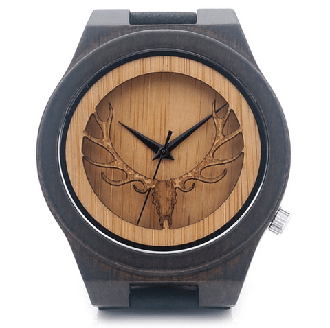 Men's Handcrafted 100% Natural Wooden Watch // Personalized Engravings // Leather Strap // Yada - Woodzystore