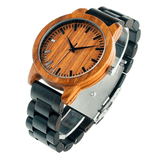 Unisex Handcrafted 100% Natural Wooden Watch // Personalized Engravings // Cabot - Woodzystore