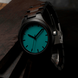 Men's Handcrafted 100% Natural Wooden Watch // Personalized Engravings // Bamboo Wood // Myst - Woodzystore
