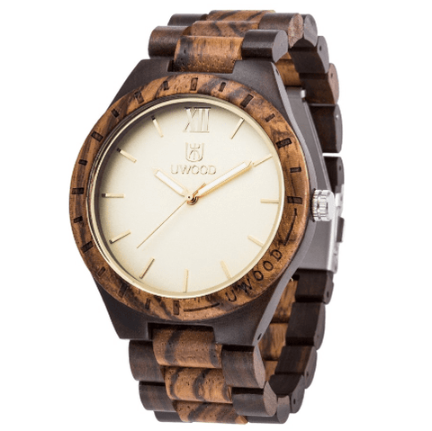 Men's Handcrafted 100% Natural Wooden Watch // Monark