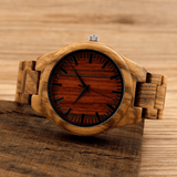 Men's Handcrafted 100% Natural Wooden Watch // Personalized Engravings // Maple+Red Wood // Macau - Woodzystore