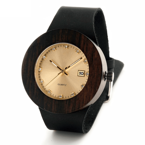 Women's Handcrafted 100% Natural Wooden Watch // Personalized Engravings // Leather Strap // Pelt - Woodzystore