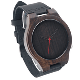 Men's Handcrafted 100% Natural Wooden Watch // Personalized Engravings // Leather Strap // Trok - Woodzystore