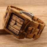 Men's Handcrafted 100% Natural Wooden Watch // Personalized Engravings // Bray - Woodzystore