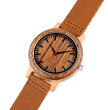 Men's Handcrafted 100% Natural Wooden Watch // Personalized Engravings // Leather Strap // Navan - Woodzystore