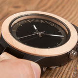 Men's Handcrafted 100% Natural Wooden Watch // Personalized Engravings // Pinewood // Cain - Woodzystore