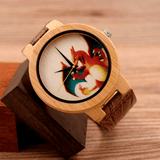 Unisex Handcrafted 100% Natural Wooden Watch // Personalized Engravings // Leather Strap // Poké - Woodzystore