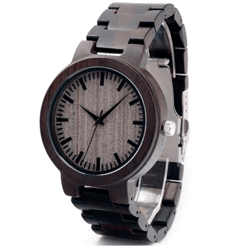 Men's Handcrafted 100% Natural Wooden Watch // Personalized Engravings // Blackwood // Maple