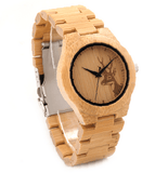 Women's Handcrafted 100% Natural Wooden Watch // Personalized Engravings // Bamboo Wood // Aviv - Woodzystore