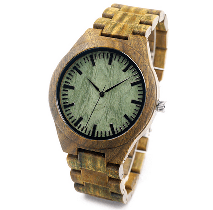 Men's Handcrafted 100% Natural Wooden Watch // Personalized Engravings // Sandalwood // Cedar - Woodzystore