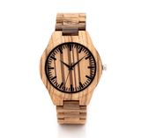 Men's Handcrafted 100% Natural Wooden Watch // Personalized Engravings // Organic Wood // Dewey - Woodzystore