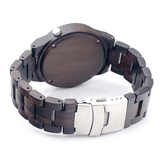 Unisex Handcrafted 100% Natural Wooden Watch // Personalized Engravings // Ebony Wood // Kai - Woodzystore