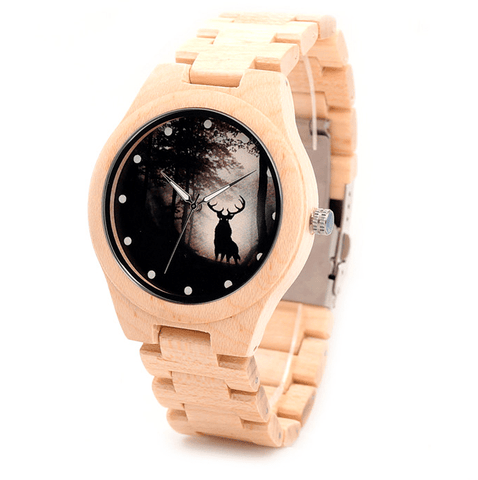 Men's Handcrafted 100% Natural Wooden Watch // Personalized Engravings // Lark - Woodzystore