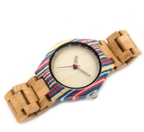 Men's Handcrafted 100% Natural Wooden Watch // Personalized Engravings // Bamboo Wood // Lon - Woodzystore