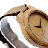Men's Handcrafted 100% Natural Wooden Watch // Personalized Engravings // Leather Strap // Boyd - Woodzystore