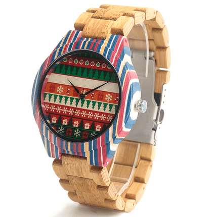 Men's Handcrafted 100% Natural Wooden Watch // Personalized Engravings // Xmas - Woodzystore