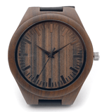 Men's Handcrafted 100% Natural Wooden Watch // Personalized Engravings // Walnut Wood // Leather Strap // Walnut - Woodzystore
