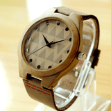 Unisex Handcrafted 100% Natural Wooden Watch // Personalized Engravings // Leather Strap // Sawyer - Woodzystore
