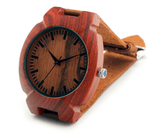 Men's Handcrafted 100% Natural Wooden Watch // Personalized Engravings // Leather Strap // Dawn - Woodzystore