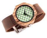 Women's Handcrafted 100% Natural Wooden Watch // Personalized Engravings // Leather Strap // Claire - Woodzystore