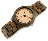 Men's Handcrafted 100% Natural Wooden Watch // Personalized Engravings // Green Sandal Wood // Hatok - Woodzystore