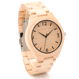Men's Handcrafted 100% Natural Wooden Watch // Personalized Engravings // Aryd - Woodzystore