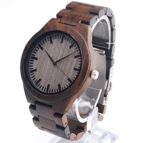 Men's Handcrafted 100% Natural Wooden Watch // Personalized Engravings // Lakeside - Woodzystore