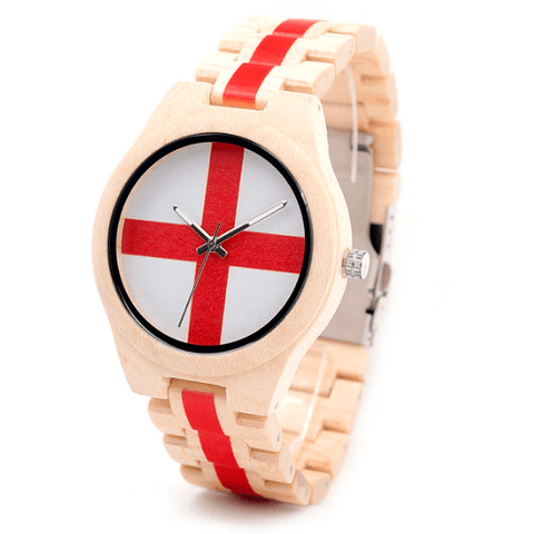 Men's Handcrafted 100% Natural Wooden Watch // Personalized Engravings // Maple Wood // England - Woodzystore