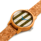 Unisex Handcrafted 100% Natural Wooden Watch // Personalized Engravings // Organic Wood // Cork Strap // Cork - Woodzystore