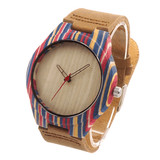 Women's Handcrafted 100% Natural Wooden Watch // Personalized Engravings // Bamboo Wood // Leather Strap // Neo - Woodzystore