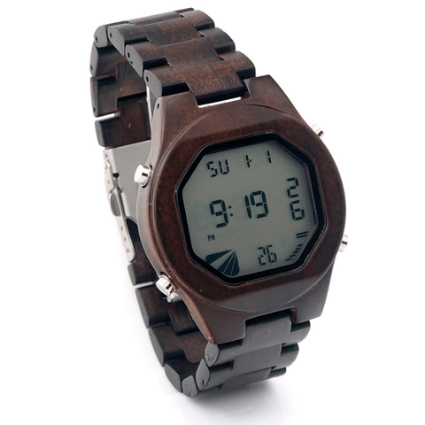 Men's Handcrafted 100% Natural Wooden Watch // Personalized Engravings // York - Woodzystore