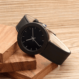 Women's Handcrafted 100% Natural Wooden Watch // Personalized Engravings // Ebony Wood // Leather Strap // Gert - Woodzystore