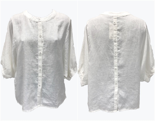 Worthier White Linen Top