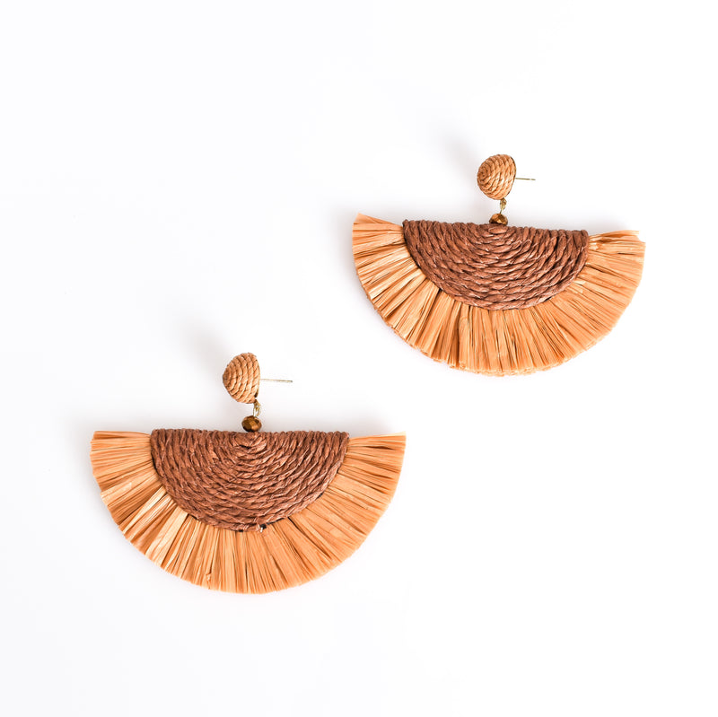Adorne Salma Cord Fringe Earrings