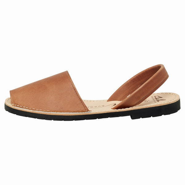Avarcas Tan Leather Flats