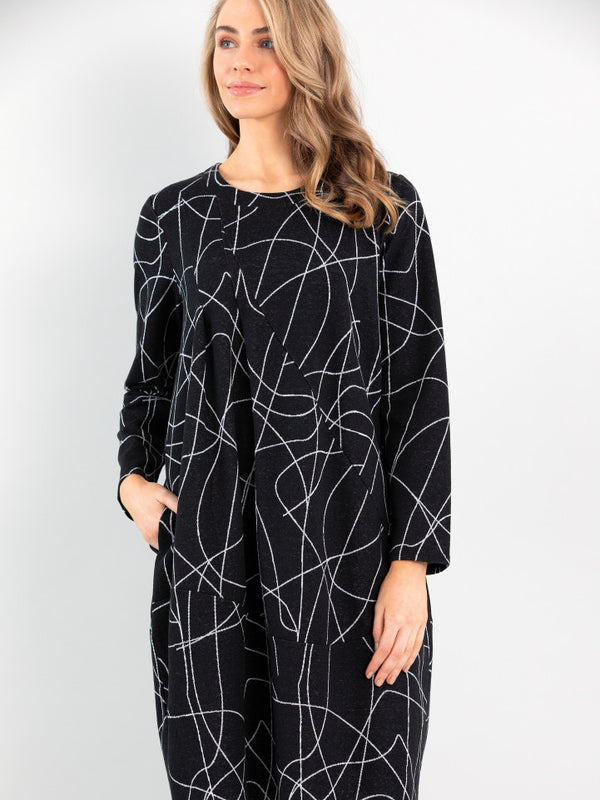 Marco Polo Long Sleeve Tuck Dress