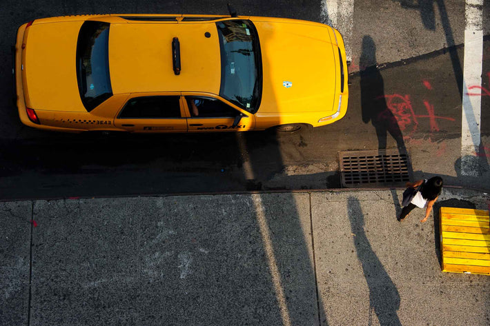 Taxi, Woman and Shadow, NYC