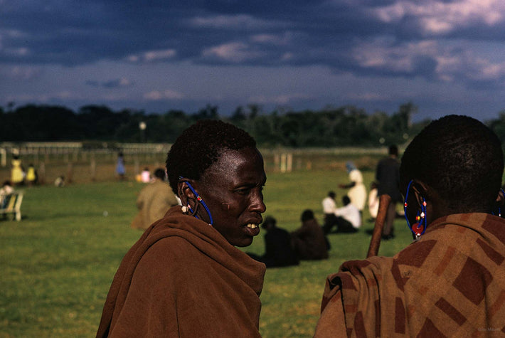 Two Masai, Dark Sky, Kenya
