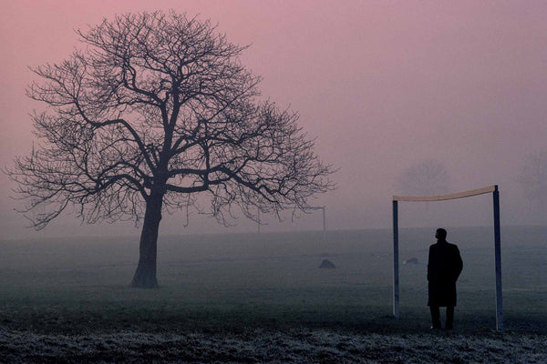 Tree, Man and Goal Post, London