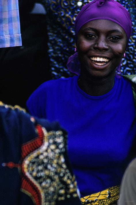Woman in Blue, Ghana
