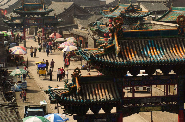 Street Scene from Higher Up, Pingyao