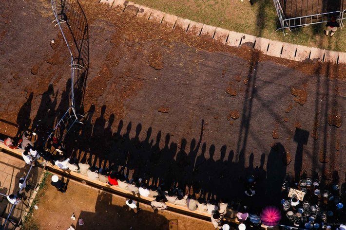 Overhead View of Crowd, Shadows, Ghana