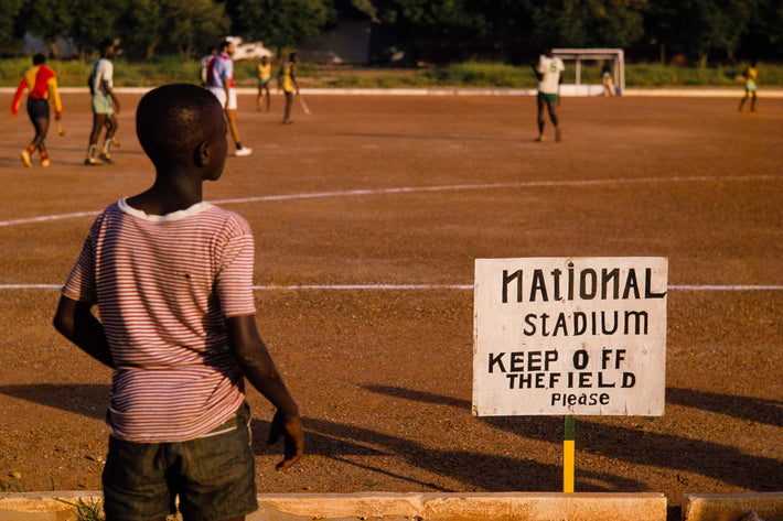 National Stadium, Posted Sign, Ghana